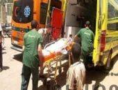 حادث مروع لتصادم سيارتين علي الطريق الصحراوي بمحافظة بنى سويف