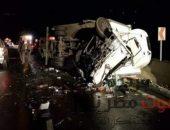 إصابه 11 شخصاً في حادث مروع بمحافظه بني سويف