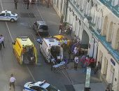 """عاجل..""""شاهد"""" حادث مأساوي ،سائق مخمور يدهس تجمعاً جماهيرياً فى روسيا   صوت مصر نيوز"""