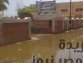 """بالصور .. معاناة أهالى قرية """"بهبشين """"من انتشار مياه الصرف الصحي فى الشوارع الرئيسية   صوت مصر نيوز"""