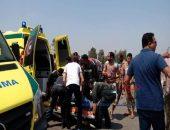 مصرع شابين في حادث مروع لانقلاب دراجه بخاريه ببني سويف | صوت مصر نيوز