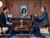 وزيرة الهجرة تستقبل أول مصرى يحصل على منصب عضو الأمانه العامة للاندماج بالحزب الاشتراكي الألماني | صوت مصر نيوز