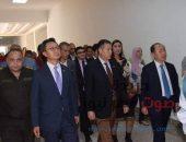 محافظ بني سويف ووفد كوري في زيارة لموقع أعمال مشروع الكلية التكنولوجية | صوت مصر نيوز