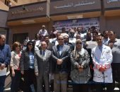 محافظ الفيوم يكرم العاملين المشاركين بمبادرة 100 مليون صحة بالفيوم | صوت مصر نيوز