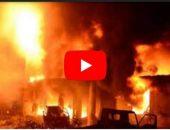إصابة 6 أشخاص إثر اندلاع حريق هائل بمصنع آثاث بدمياط | صوت مصر نيوز