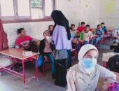 رجائي تتابع استمرار حملة القضاء على الديدان المعوية بمدارس بابشواى|صوت مصر نيوز