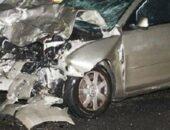 إصابة 4 أشخاص في حادث تصادم سيارة ملاكي وتروسيكل بمركز الفيوم|صوت مصر نيوز