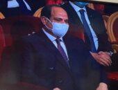 السيسي يبكي متأثرًا بعد استعراض تضحيات رجال الشرطة | صوت مصر نيوز