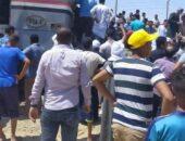 عاجل: إصطدام قطار الفيوم بسيارة ملاكي أثناء عبورها مزلقان السكة الحديد اليوم  صوت مصر نيوز